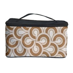 Retro Mirror Pattern Brown Cosmetic Storage Cases by ImpressiveMoments