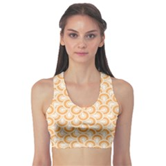 Retro Mirror Pattern Peach Sports Bra