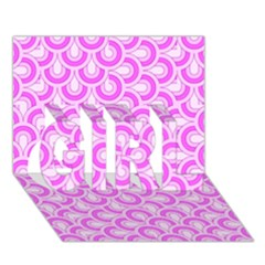 Retro Mirror Pattern Pink Girl 3d Greeting Card (7x5)  by ImpressiveMoments