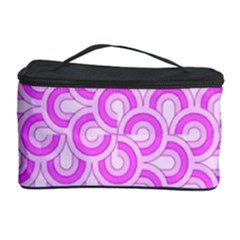 Retro Mirror Pattern Pink Cosmetic Storage Cases by ImpressiveMoments