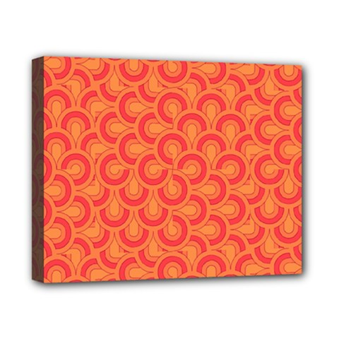 Retro Mirror Pattern Red Canvas 10  X 8  by ImpressiveMoments