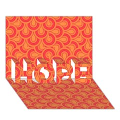 Retro Mirror Pattern Red Hope 3d Greeting Card (7x5)  by ImpressiveMoments