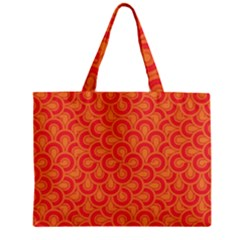 Retro Mirror Pattern Red Zipper Tiny Tote Bags by ImpressiveMoments