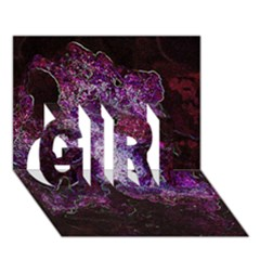 Space Like No 1 Girl 3d Greeting Card (7x5)