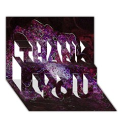 Space Like No 1 Thank You 3d Greeting Card (7x5)