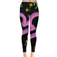 Libra Floating Zodiac Sign Women s Leggings by theimagezone