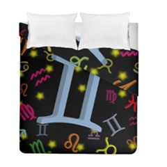 Gemini Floating Zodiac Sign Duvet Cover (twin Size)