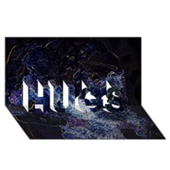 Space Like No 3 Hugs 3d Greeting Card (8x4)