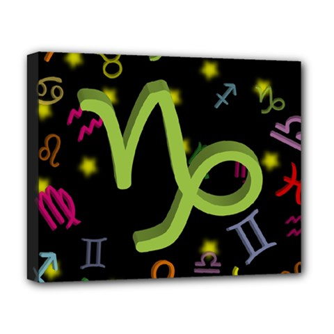 Capricorn Floating Zodiac Sign Deluxe Canvas 20  X 16   by theimagezone