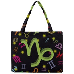 Capricorn Floating Zodiac Sign Tiny Tote Bags by theimagezone