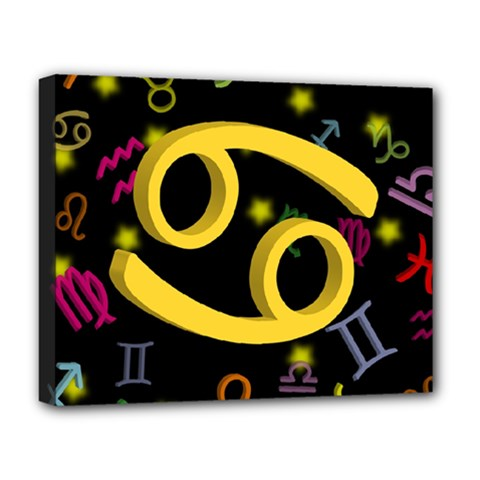 Cancer Floating Zodiac Sign Deluxe Canvas 20  X 16   by theimagezone