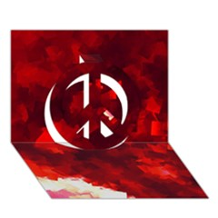 Space Like No 4 Peace Sign 3d Greeting Card (7x5)