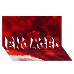 Space Like No 4 Engaged 3d Greeting Card (8x4)
