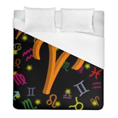 Aries Floating Zodiac Sign Duvet Cover Single Side (twin Size) by theimagezone