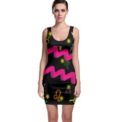 Aquarius Floating Zodiac Sign Bodycon Dresses by theimagezone
