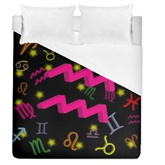 Aquarius Floating Zodiac Sign Duvet Cover Single Side (full/queen Size) by theimagezone