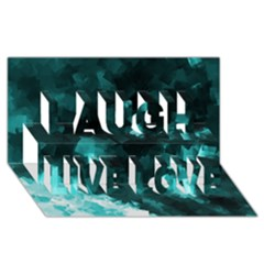 Space Like No 5 Laugh Live Love 3d Greeting Card (8x4)