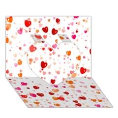Heart 2014 0603 Heart 3d Greeting Card (7x5)