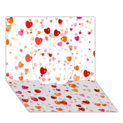 Heart 2014 0603 Apple 3d Greeting Card (7x5)