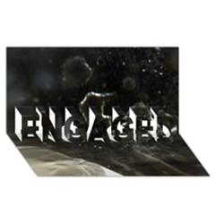 Space Like No 6 Engaged 3d Greeting Card (8x4)  by timelessartoncanvas