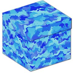 Camouflage Blue Storage Stool 12   by MoreColorsinLife