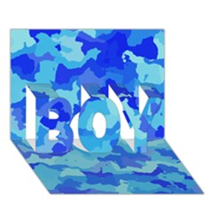 Camouflage Blue Boy 3d Greeting Card (7x5)