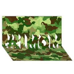 Camouflage Green #1 Mom 3d Greeting Cards (8x4)