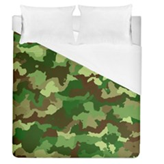 Camouflage Green Duvet Cover Single Side (full/queen Size) by MoreColorsinLife