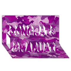 Camouflage Purple Congrats Graduate 3d Greeting Card (8x4)