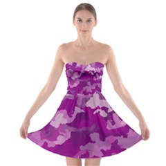 Camouflage Purple Strapless Bra Top Dress by MoreColorsinLife
