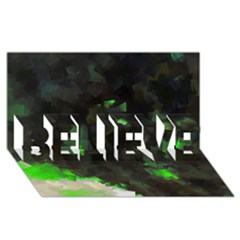 Space Like No 7 Believe 3d Greeting Card (8x4)