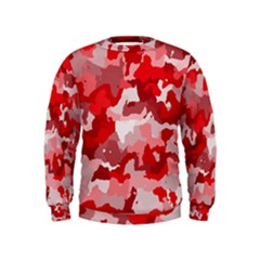 Camouflage Red Boys  Sweatshirts