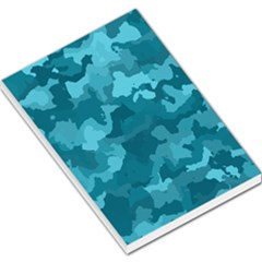 Camouflage Teal Large Memo Pads