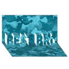 Camouflage Teal Best Bro 3d Greeting Card (8x4)