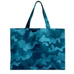 Camouflage Teal Zipper Tiny Tote Bags by MoreColorsinLife