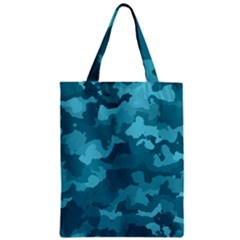 Camouflage Teal Zipper Classic Tote Bags by MoreColorsinLife