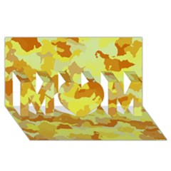 Camouflage Yellow Mom 3d Greeting Card (8x4)