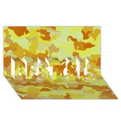 Camouflage Yellow Best Sis 3d Greeting Card (8x4)