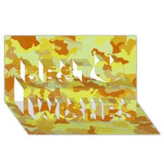 Camouflage Yellow Best Wish 3d Greeting Card (8x4)  by MoreColorsinLife