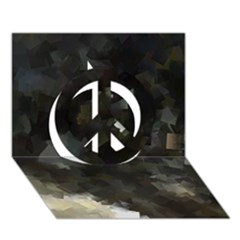 Space Like No 8 Peace Sign 3d Greeting Card (7x5)  by timelessartoncanvas