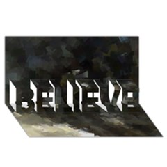 Space Like No 8 Believe 3d Greeting Card (8x4)  by timelessartoncanvas