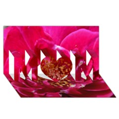 Red Rose Mom 3d Greeting Card (8x4)  by timelessartoncanvas