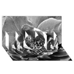 Black And White Rose Mom 3d Greeting Card (8x4)  by timelessartoncanvas