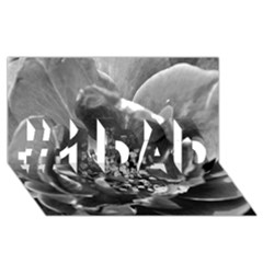 Black And White Rose #1 Dad 3d Greeting Card (8x4)  by timelessartoncanvas