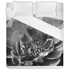 Black And White Rose Duvet Cover (double Size) by timelessartoncanvas