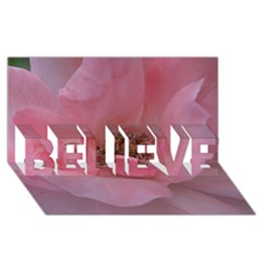 Pink Rose Believe 3d Greeting Card (8x4)