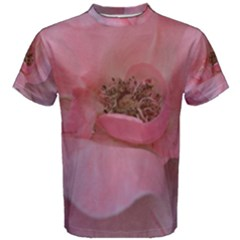 Pink Rose Men s Cotton Tees