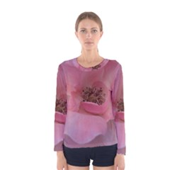 Pink Rose Women s Long Sleeve T-shirts