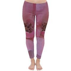 Pink Rose Winter Leggings