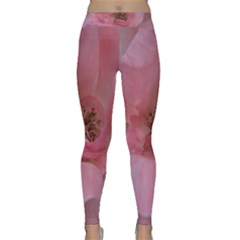 Pink Rose Yoga Leggings